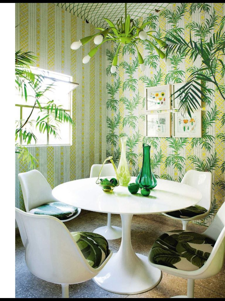 Tropical Kitchen Ideas: Tropical Dining Room, Mid Century