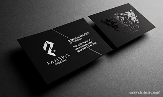 Famepix Business Card  Simple Line Element  Design  Business