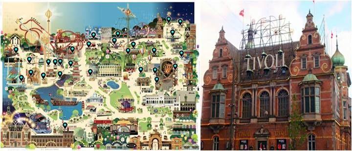 O Parque Tivoli fica em Compenhagen, na Dinamarca e foi o que inspirou Walt Disney ao criar o parque Walt Disney World.  Inaugurado em 1843 é segundo parque mais antigo do mundo e apesar de ser super antigo, todos os brinquedos são restaurados constantemente.