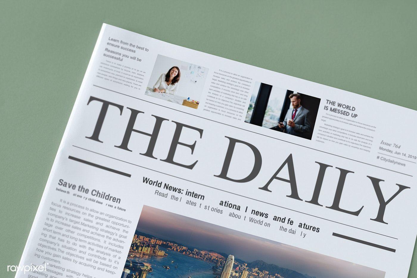 The Daily News Newspaper Mockup Free Image By Rawpixel Com Ake