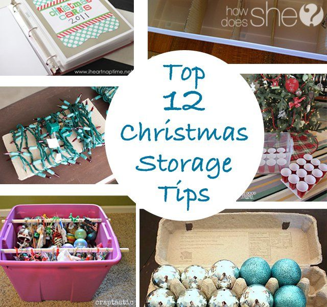 Top 12 Christmas Storage Tips Christmas storage, Storage and