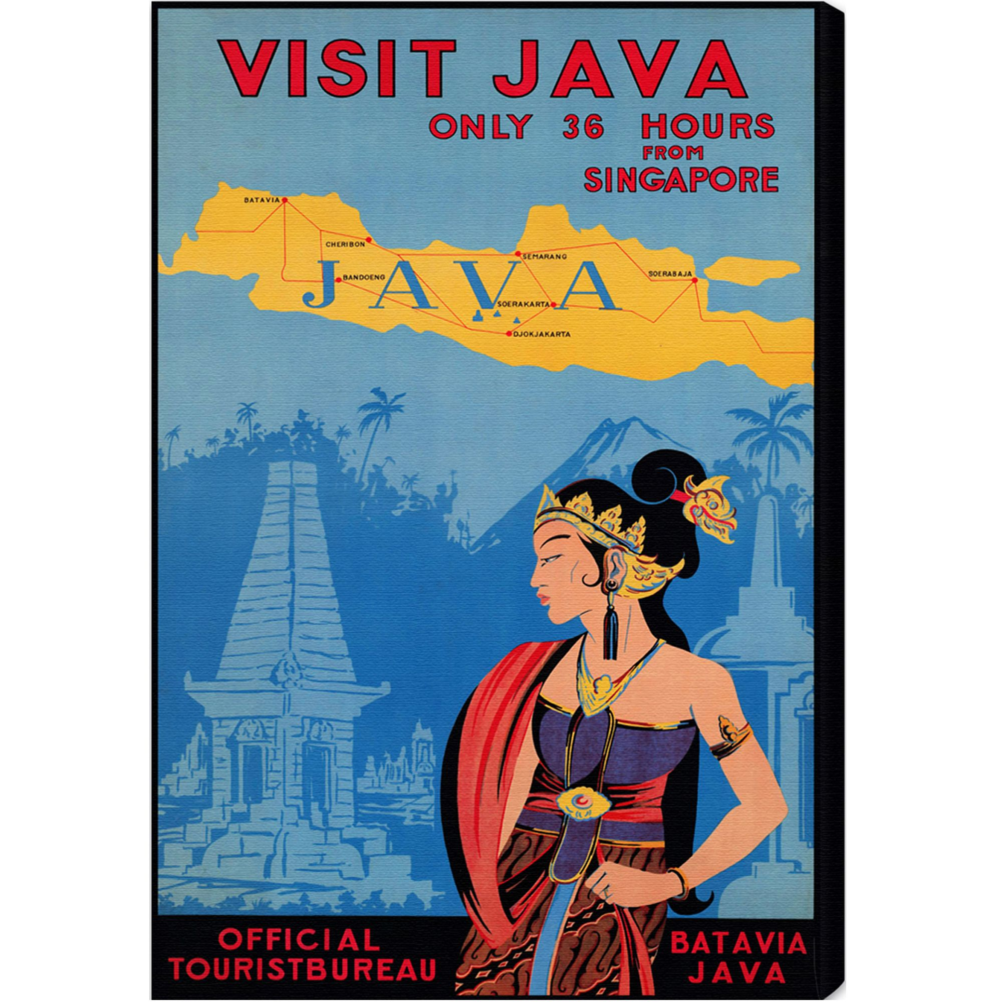 Oliver Gal 'Visit Java' World and Countries Wall Art