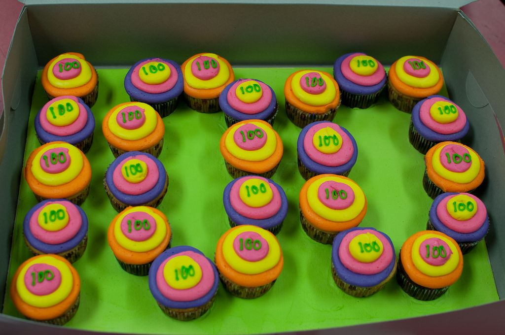 100th day of school cupcakes first grade pinterest school cupcakes school and kindergarten. Black Bedroom Furniture Sets. Home Design Ideas