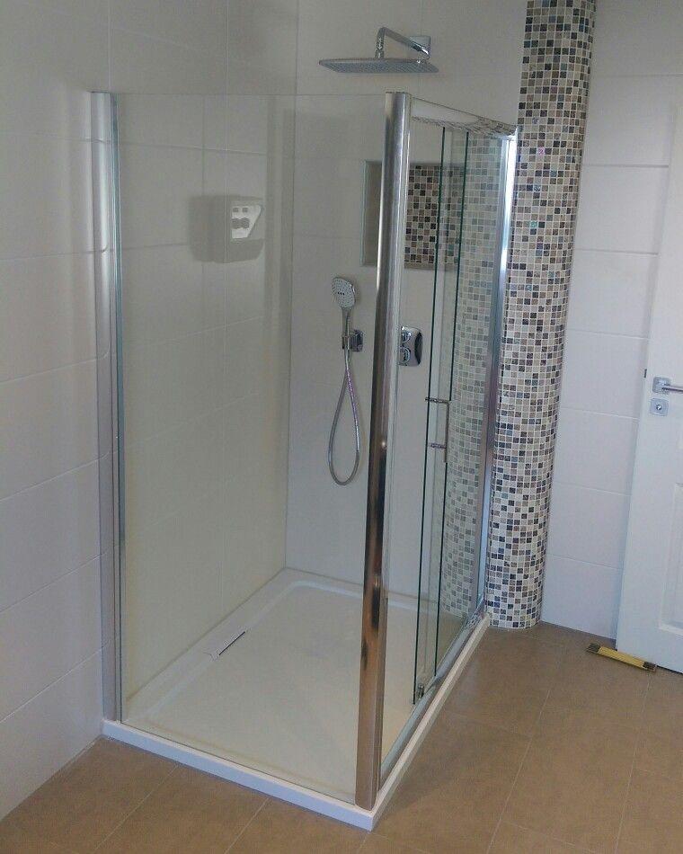 Schiebetur Seitenwand Hausbau Bad Badeinrichtung Sanitar