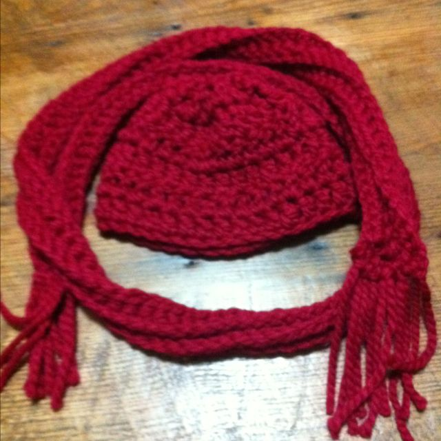 Scarf with matching hat
