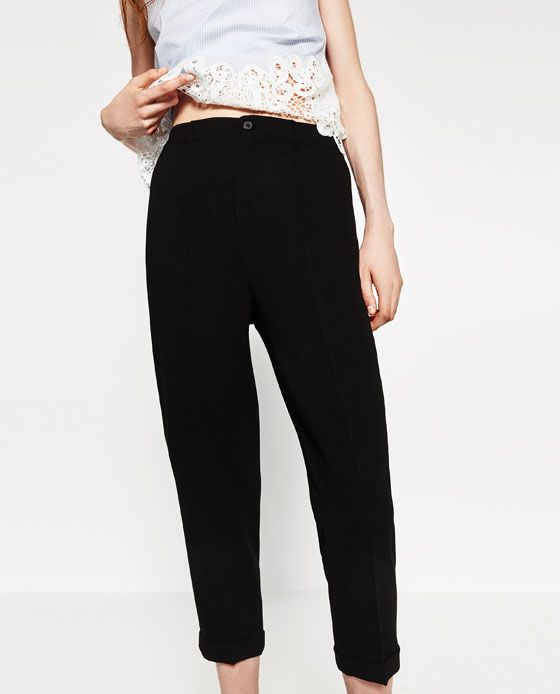 a46516ec CROPPED TROUSERS from Zara. CROPPED TROUSERS - Available in more colours ...