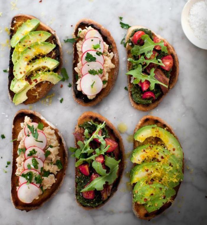 Tartines salées froides | Recettes de cuisine, Nourriture, Idée recette