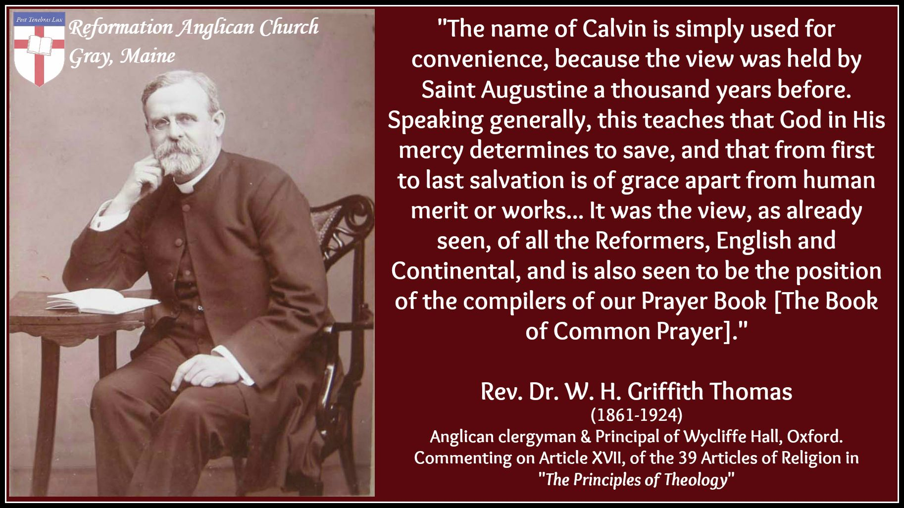 Griffith Thomas Calvinism The Book Of Common Prayer With