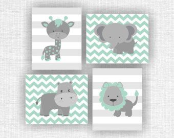 Kinderbilder Für Die Wand instant pink and gray jungle animals nursery printable