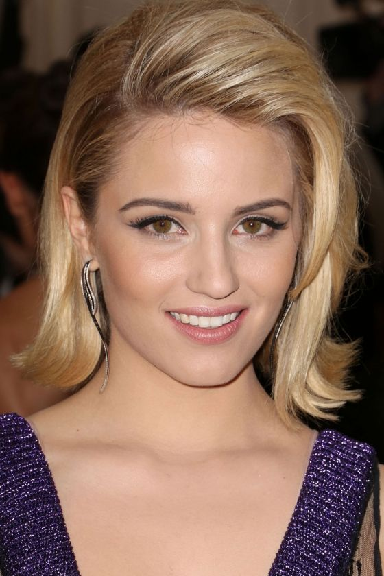 Dianna Agron short bob haircut