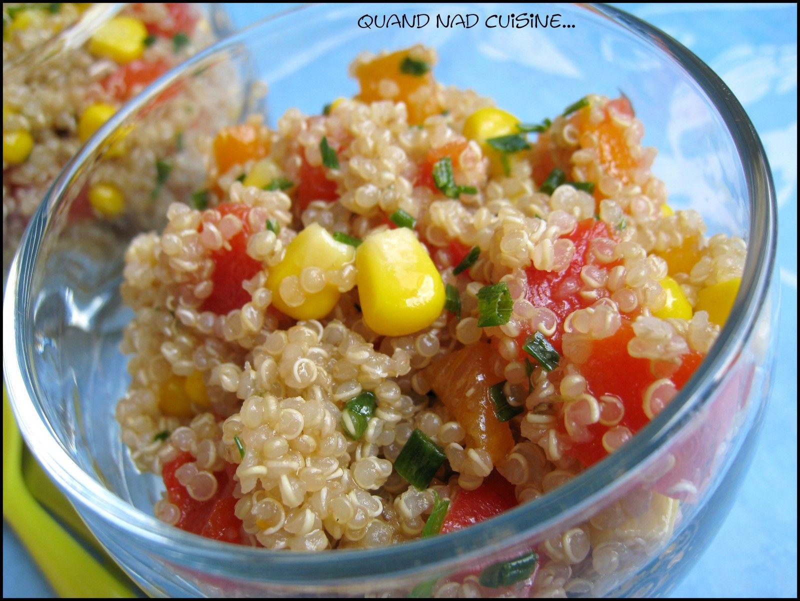 Salade croquante de quinoa aux poivrons le poivron for Cuisiner quinoa