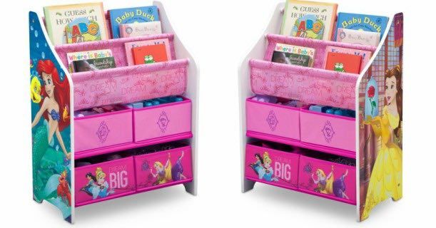 Disney Princess Book Toy Organizer Only 19 99 At Walmart Toy Organization Toy Room Organization Disney Princess Books