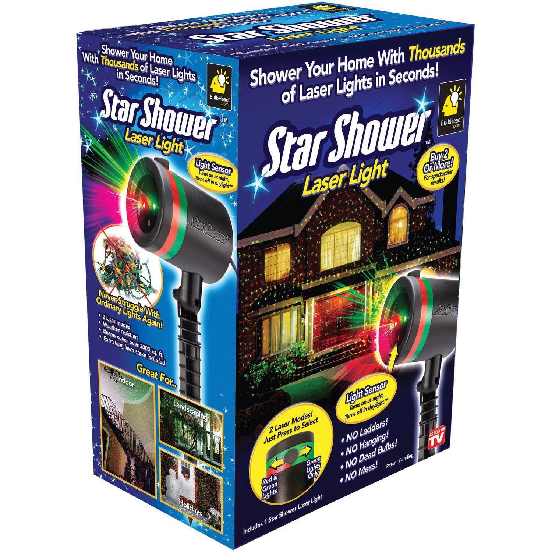 Amazon Com Star Shower Star Shower Outdoor Laser Christmas Lights Star Projector By Bulbhead Decoration Star Shower Laser Light Laser Christmas Light