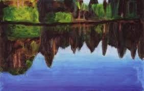 """Résultat de recherche d'images pour """"how to paint a lake"""""""