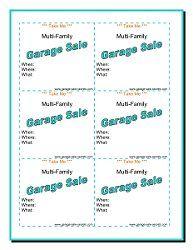 Free Printable Garage Sale Mini Flyer Free Printables Free Printables