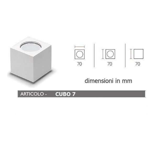 Faretti In Gesso Dimensioni.Porta Faretto In Gesso Lampada A Plafone Moderno Gu10