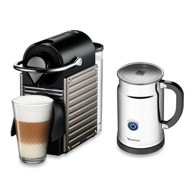 product image for Nespresso® Pixie Espresso Machine and Aeroccino Plus Bundle