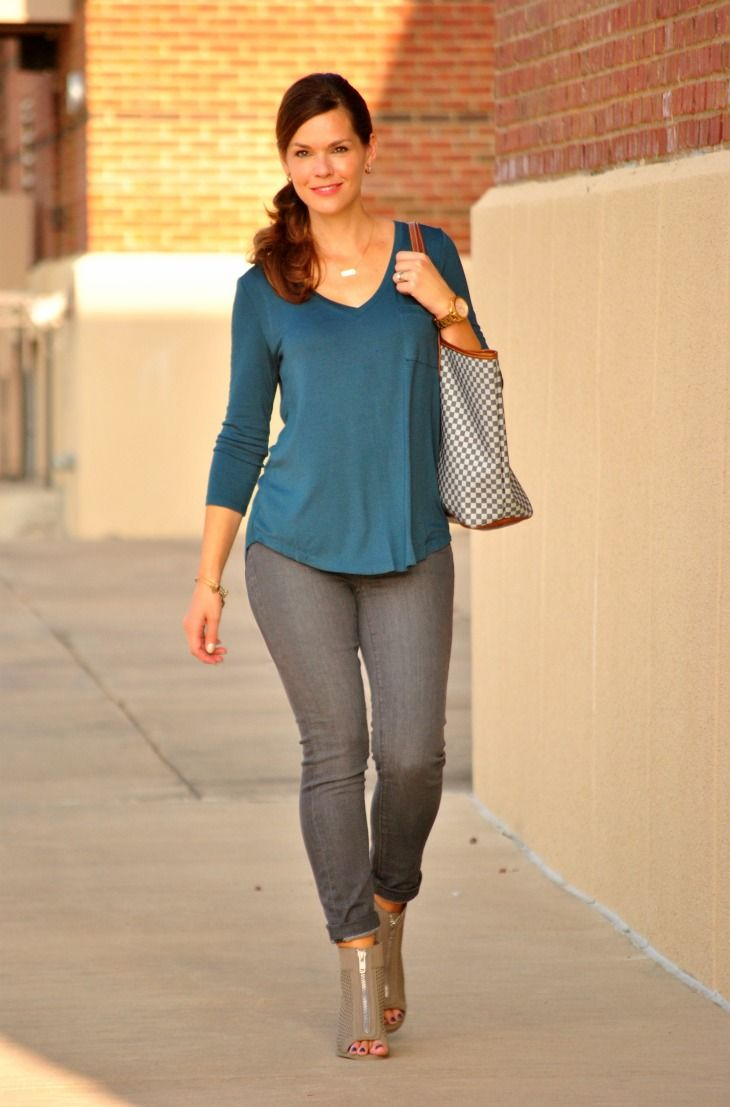 """Do you have a pair of gray jeans yet? If not, now is a great time to pick up a pair. When I did my shopping """"scouting mission"""" for the Fall Style Me Pretty Challenge recently, gray jeans were fro..."""