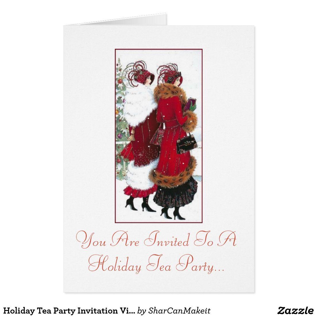 Holiday Tea Party Invitation Vintage ladies | Tea Party Invitiation ...