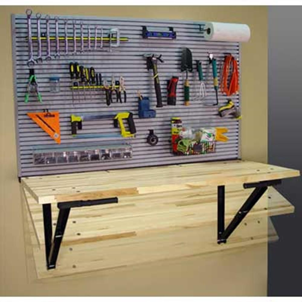 Bench Solution Wall Mounted Workbench W/ IdealWall #QW00