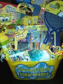 Spongebob Squarepants Themed Easter Basket