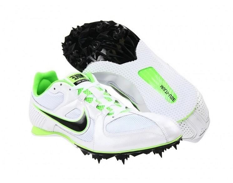 Mens Nike Zoom Rival MD 6 Mid Distance Track Spikes Size 13 White/Green/ Black