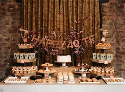 Dessert Table From Tyler Florences 40th Birthday Party