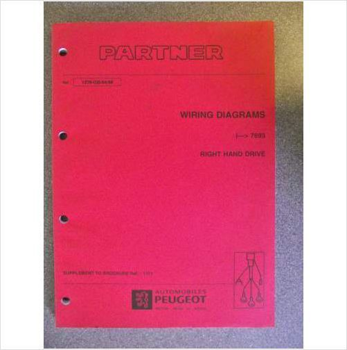Phenomenal Peugeot Partner Wiring Diagrams Workshop Manual 1998 1279 Gb 04 98 Wiring 101 Ferenstreekradiomeanderfmnl