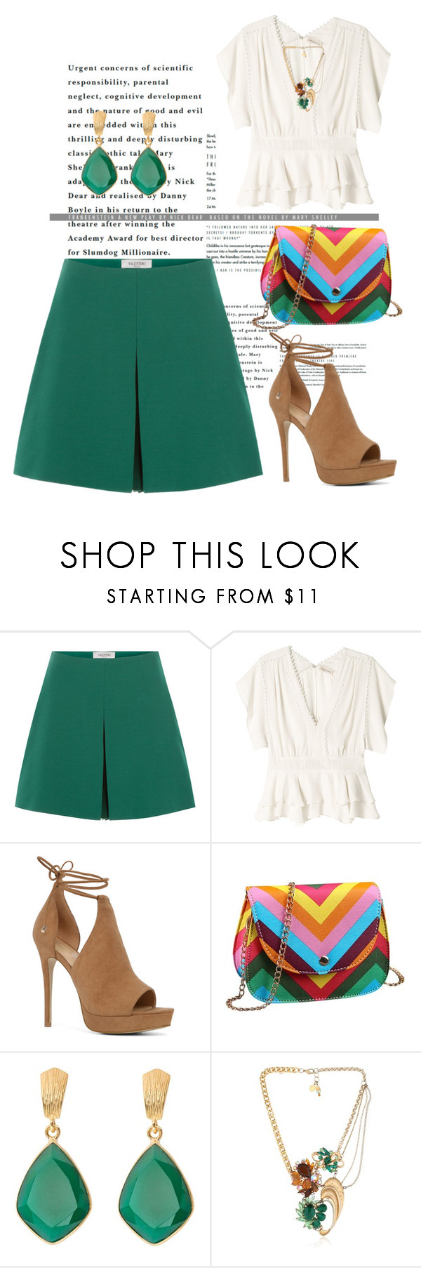 """""""Untitled #2735"""" by janicemckay ❤ liked on Polyvore featuring Valentino, Rebecca Taylor, ALDO and Maria Zureta"""