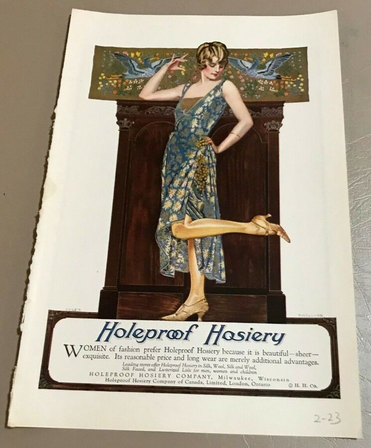 94167c3d343ef Vintage 1923 Coles Phillips Print Ad for Holeproof Hosiery, Women's  Fashion#Phillips#Print