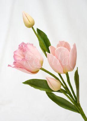 Sugar Tulip Tulip Buds Sugar Flowers Tutorial Gum Paste Flowers Cake Decorating Flowers