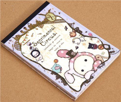 kawaii Memo Pad Sentimental Circus rabbit du Japon2