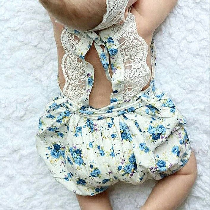 CUTE Blue Moon Girls Vintage Style Floral Pattern Romper 2T Kids Clothing NEW!!!