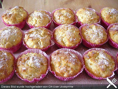 Apfel - Quark - Muffins | Muffin cupcake, Kuchen and Cake