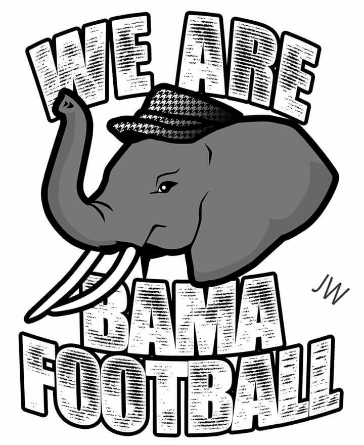 Big Al Alabama Football Football Coloring Pages Alabama Crimson Tide Crimson Tide Football