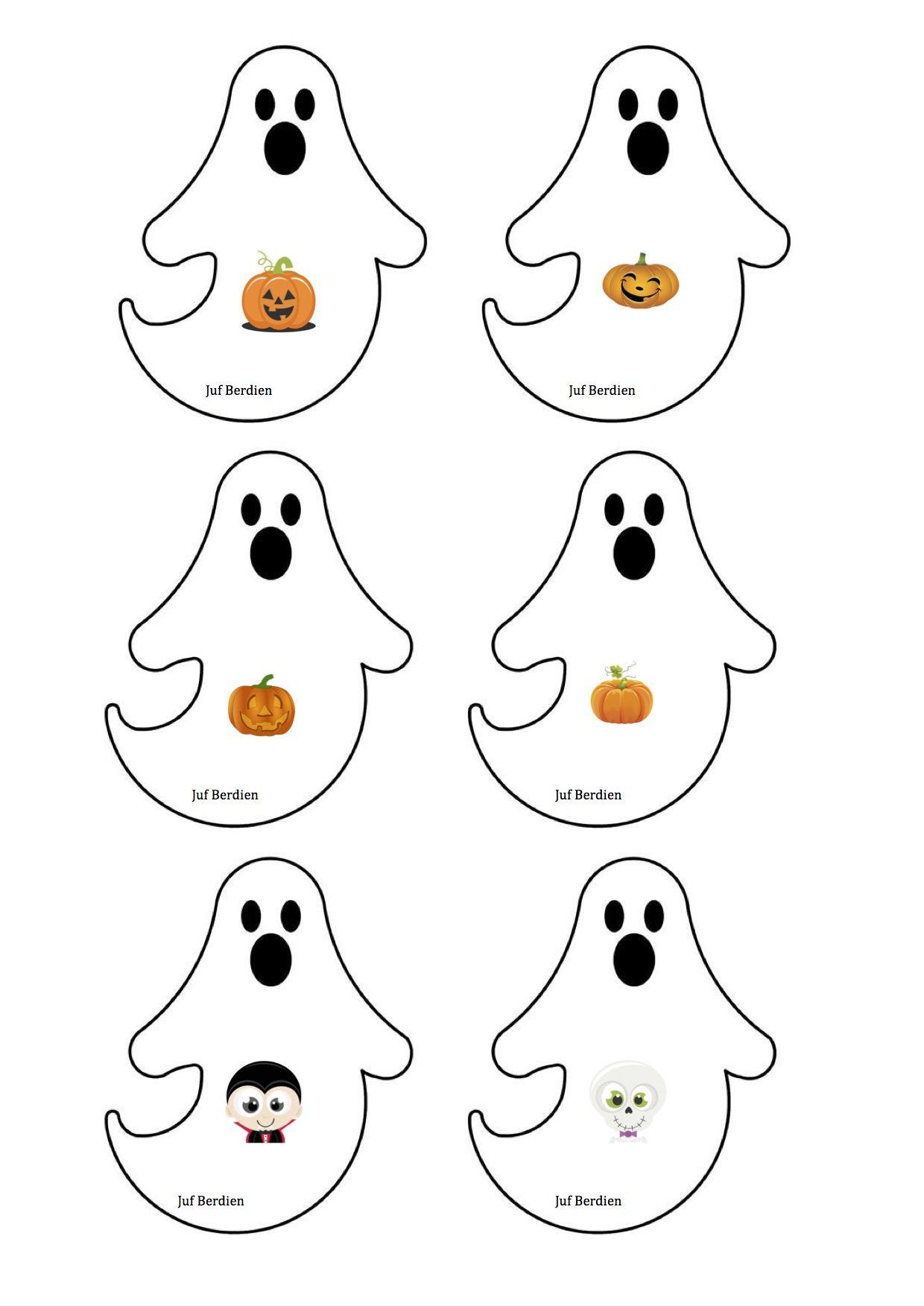 Spookjesspel juf Berdien 1 spookjes kaartjes thema ...