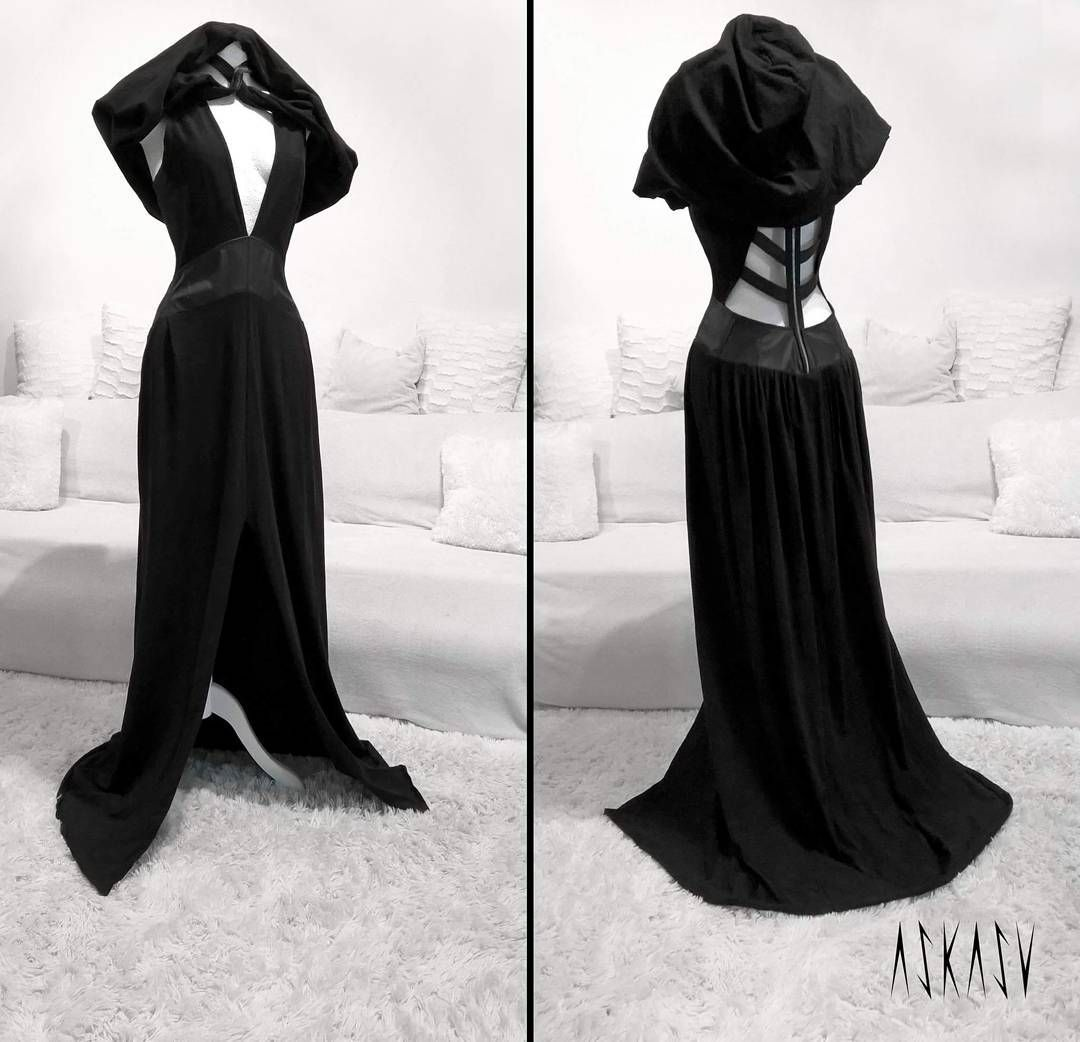 Occult long dress hood a single piece available on etsy