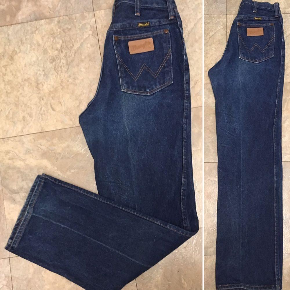 "VTG Wrangler Jeans High Waist Made In USA Sz 10 27"" Waist"