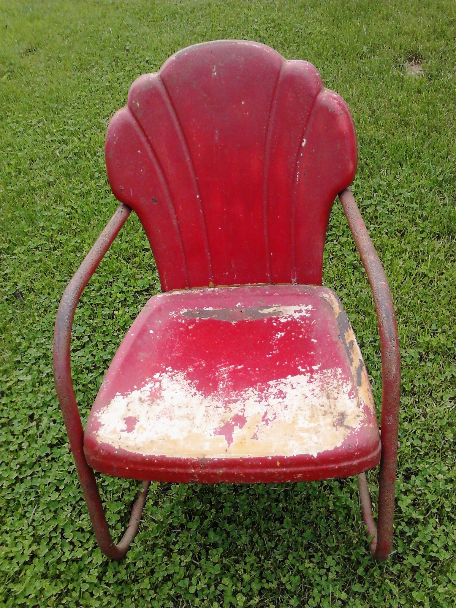Calumet vintage metal lawn chairs www.midcenturymetalchairs.com
