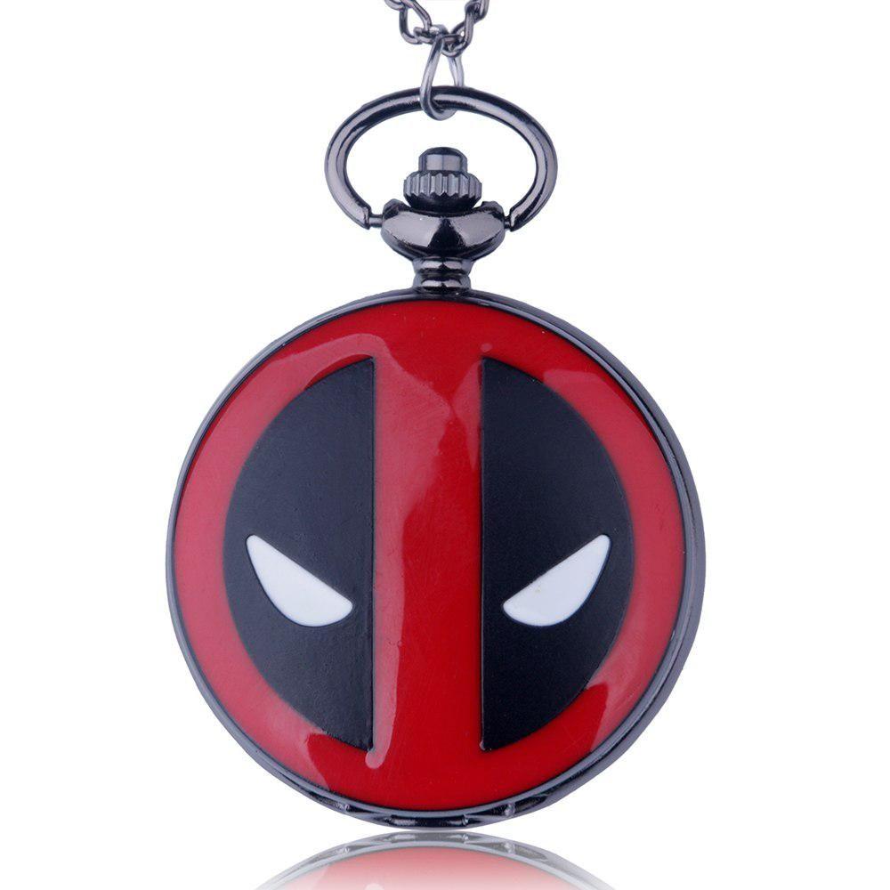 New jewelry fashion big size deadpool movie quartz pocket watch