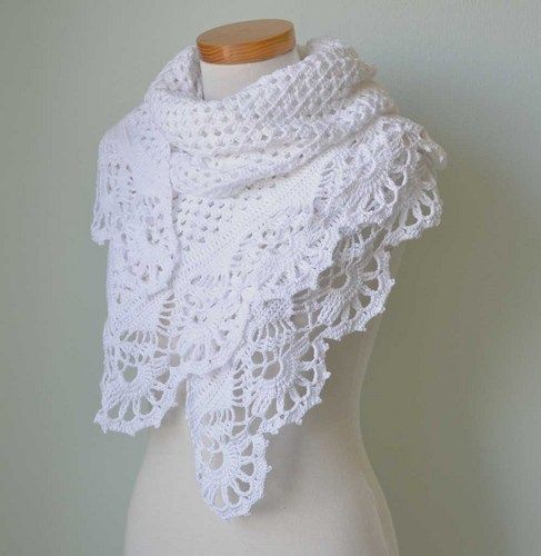 cutecrocs.com crochet shawls (07) #crocheting | Sjaals/Stola\'s ...