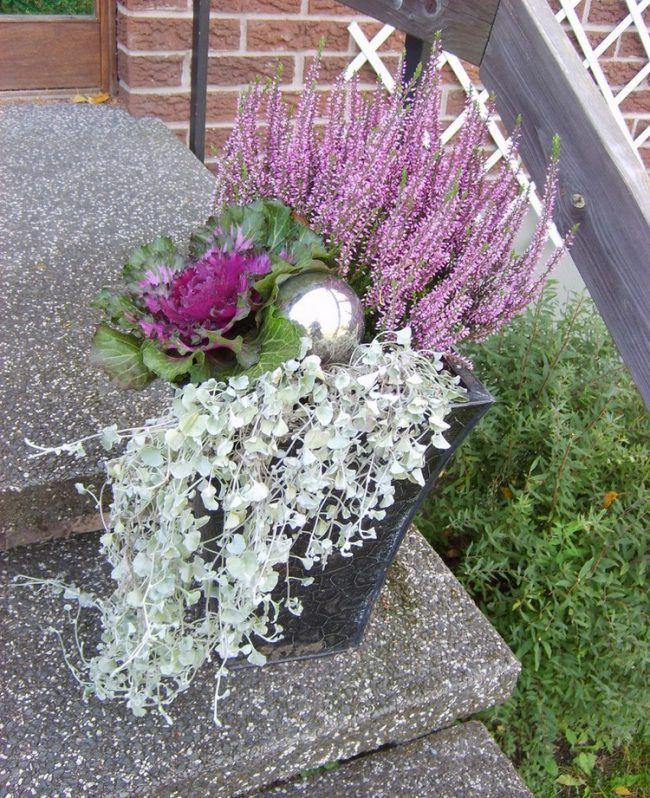 erika-heidekraut-herbst-deko-terrasse-pflanzkuebel-silberne-kugel ...