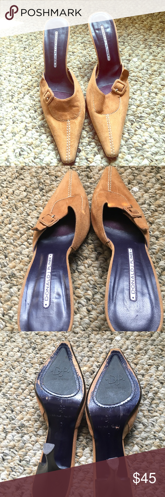 Donald Pliner heels size 7 In good condition, only worn once or twice. Donald J. Pliner Shoes Heels