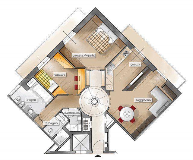 Feng Shui Living Room Layout – 75 mq un trilocale pensato per il benessere… #F…