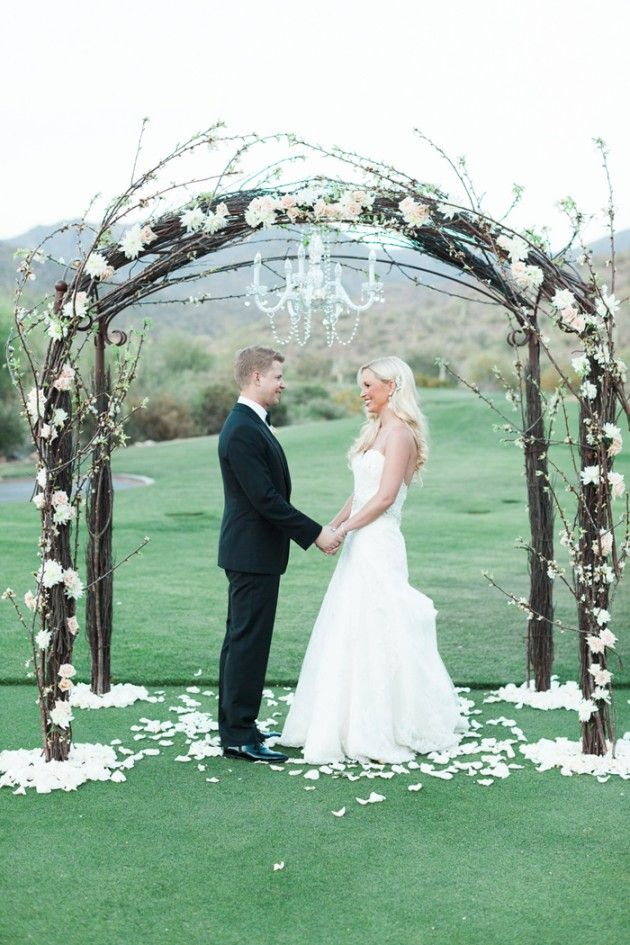 Meggan and Slade's Glam Silverleaf Club Wedding