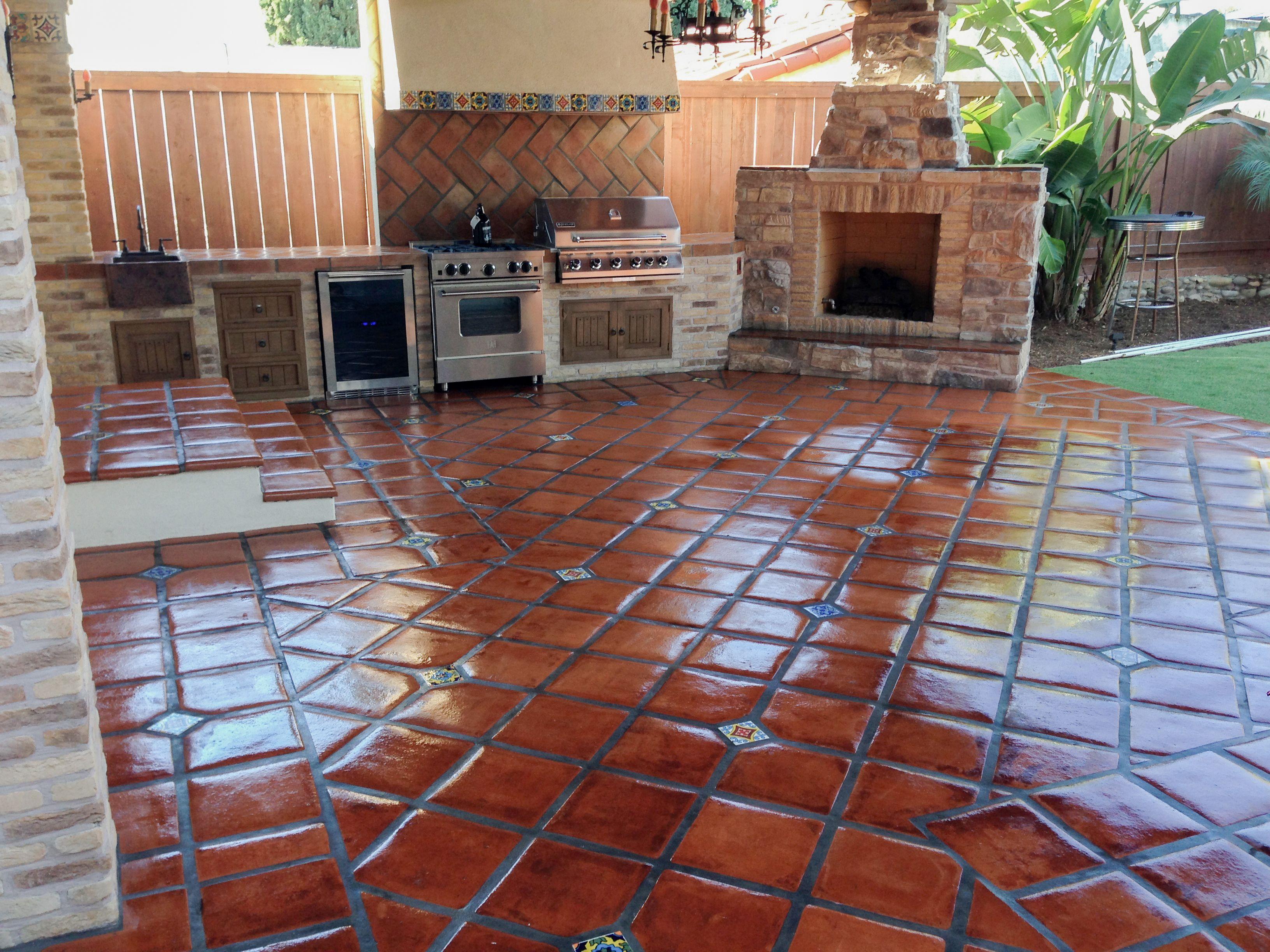 patio patio flooring spanish floor tile