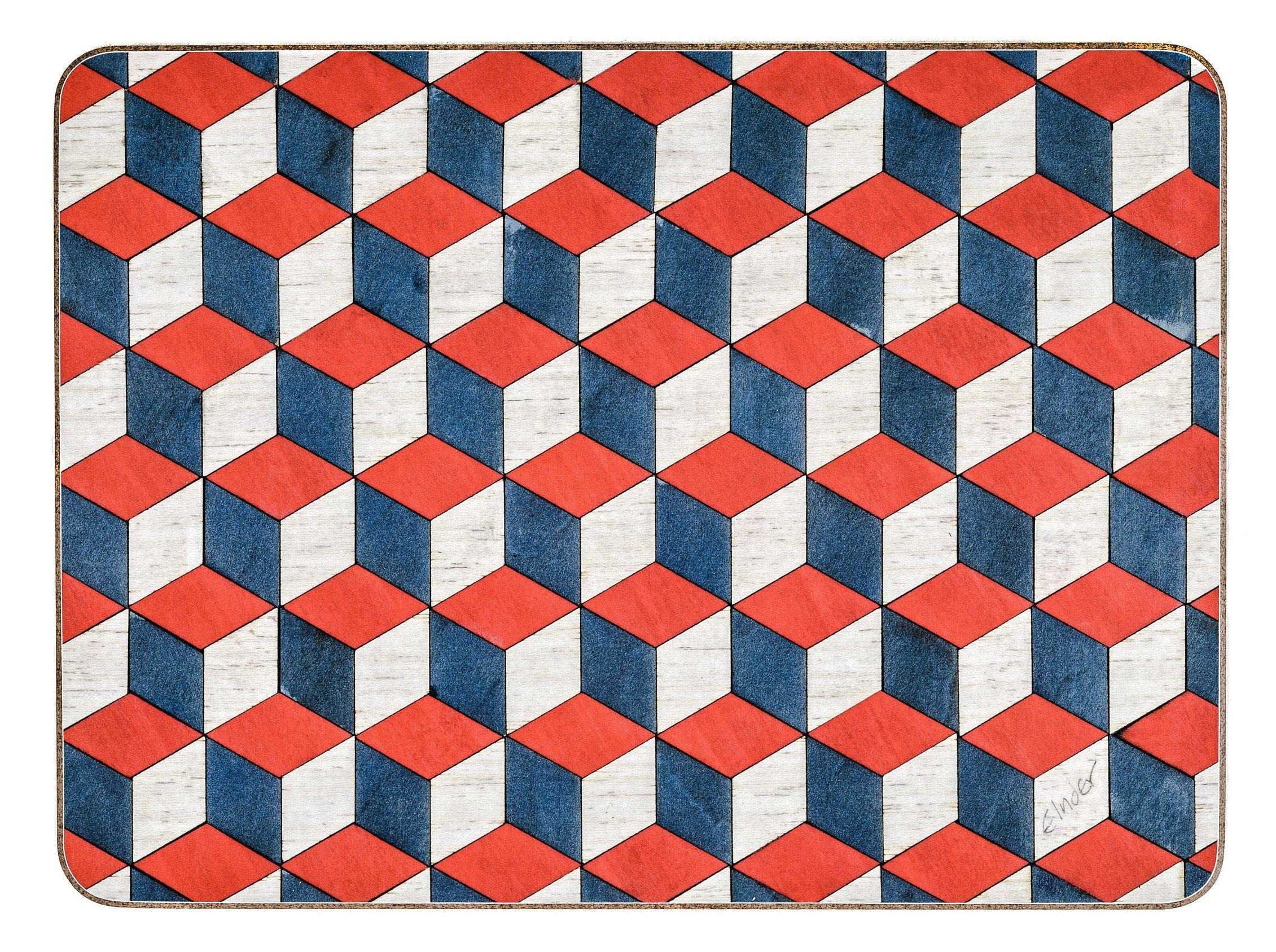 4 Place Mats Set Large Heat Resistant Geometric 3 Colours To Etsy Placemats Heat Resistant Geometric