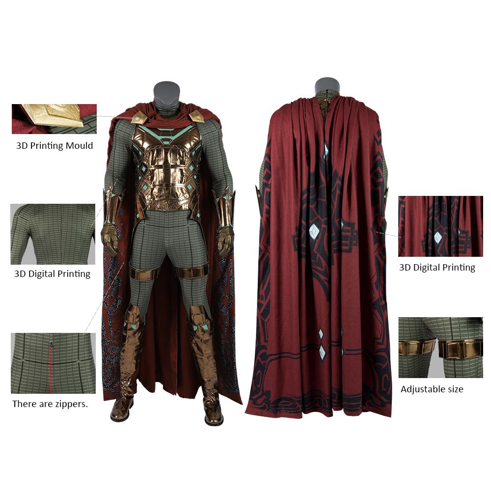 Marvel SpiderMan Mysterio Cosplay Costume Marvel