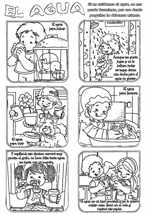 Dibujos Del Cuidado Del Agua Para Colorear El 22 De Marzo Dia