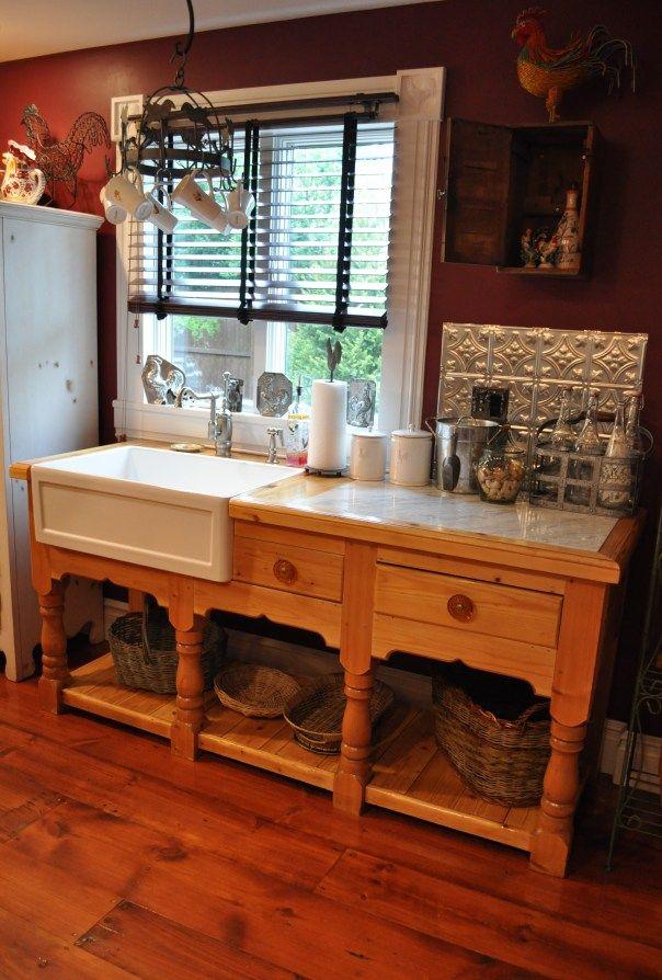 Vintage Pine Sideboard Repurposed Kitchen Sink Design Kitchen Sink Diy Pine Sideboard